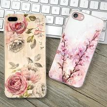 Cover For Apple iPhone 6Plus iPhone 6S Plus 5.5'' Case Cases Phone Shell Soft TPU Painted Tempting Lotus Root Charm Girl Best