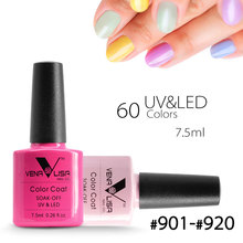 #61508 CANNI New Brand Venalisa Nail Art 60 Color 7.5 ML Soak Off UV Gel Nail Polish UV Nail Varnish for Nail Art Design