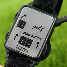 1Pc Mini Black Golf Training Aids Wristband Golf Club Stroke Score Keeper Count Watch Putt Shot Counter Sports Golf Accessories