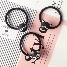Super popular cartoon girl with hair animation small black cat hair bands Cute little animal headwear