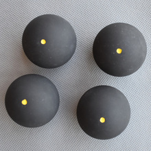 4pcs Matkot Ball Squash Ball One Yellow Dots Low Speed Rubber Ball Training Competition Squash Ball