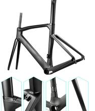 Newest style white sky bicycle carbon framset glossy finish race bike carbob framset 1k T1100 bicycle frameset made in china(China)