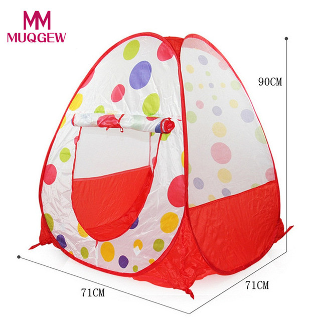 2017 Children Play Tent Polyester Fabric Foldable House Indoor Toys Birthday Present For