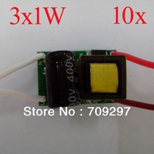 Wholesale 10pcs/lot 3x1W LED driver for1W LED chip power transport,input 85~265V 908086 + free shipping