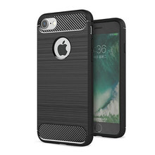 "Glossy Spigen Rugged Soft Armor Case for iPhone 7 4.7"" Resilient Shock Absorption and Carbon Fiber Design Cover"