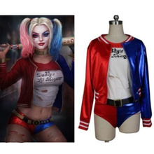 Suicide Squad Harley Quinn Movie Jacket Shorts Belt Hair Cosplay Costume Set For Halloween Batman Joker Uniform Clothing Clown