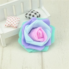 10PCS/Lot Cheap 7cm Mini PE Foam Rose Flower Head Artificial Rose Flowers Ball Scrapbooking  Wedding Party Home Decoration