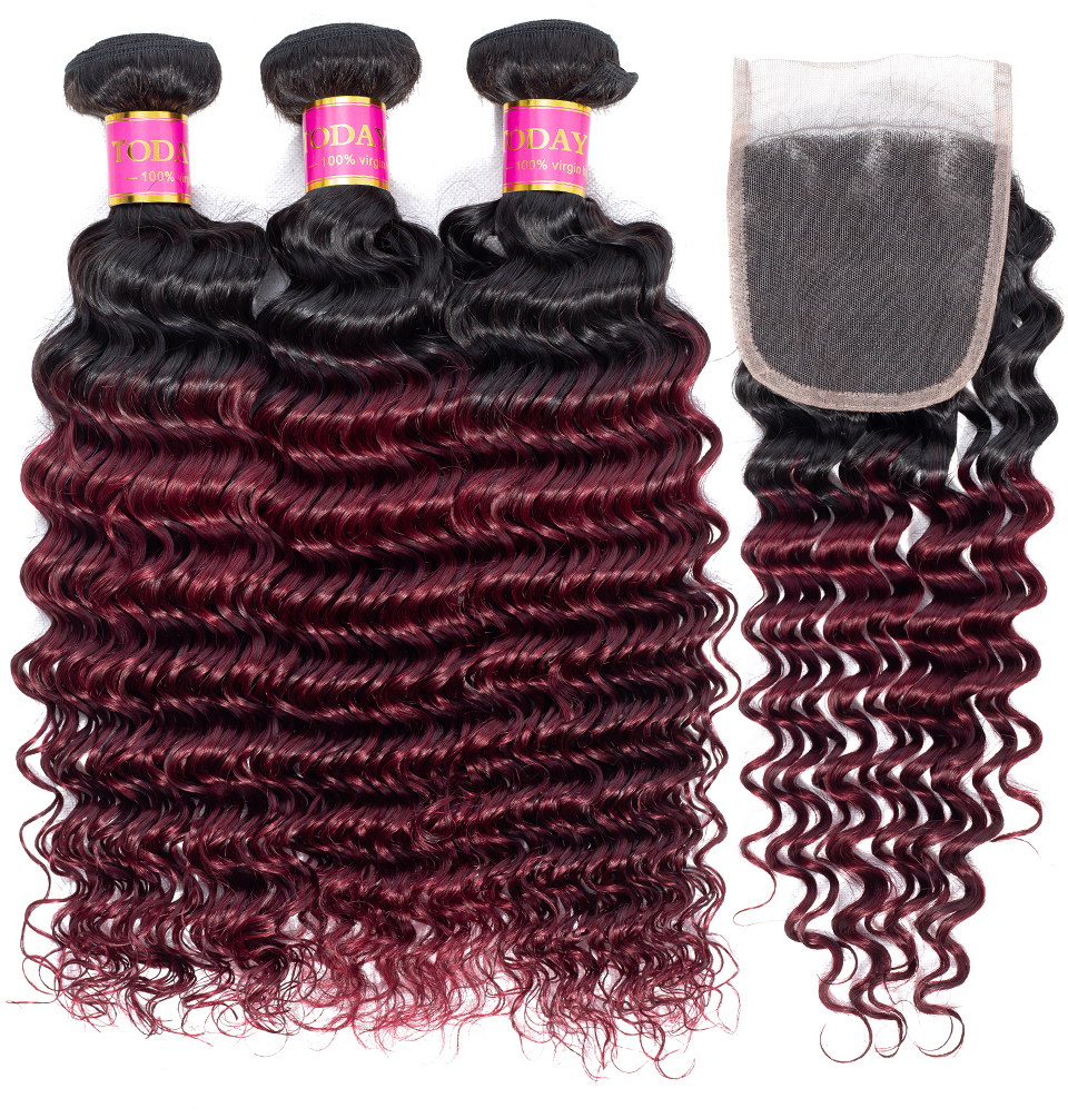 brazilian hair weave bundles with closure
