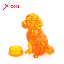 41pcs XC9039 DIY Puppy Dog 3D Crystal Puzzles animal assembled model birthday new year gift children play set toys for kids