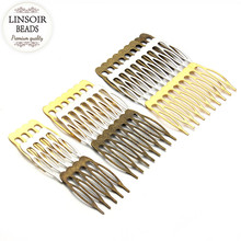 10pcs/lot 5/8/10 Teeth Metal Hair Comb Hair Clips Claw Hairpins DIY Jewelry Findings & Components Wedding Hair Jewelry F1810(China)