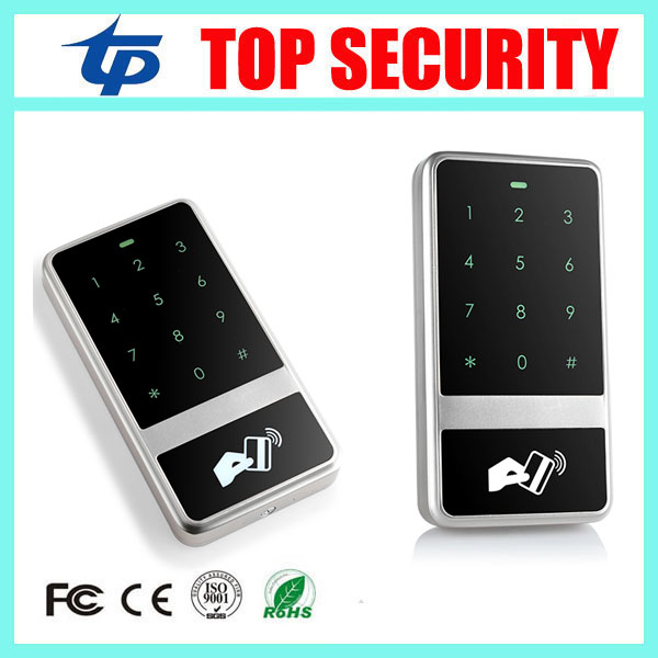 5pcs a lot 13.56MHZ MF IC card door access control panel touch screen surface waterproof 8000 users access control card reader<br>