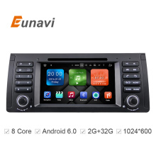 Eunavi Octa 8 Core CPU Android 6.0.1 PC 1 Din Car DVD GPS Radio Stereo For BMW E53 E39 X5 Support TV 4G WiFi OBD DVR