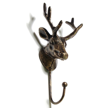 18cm Bronze Clothing Store Display Racks Hook Coat Hanger Cap Shop Room Decor Show Wall Metal Craft Deer Head Hooks