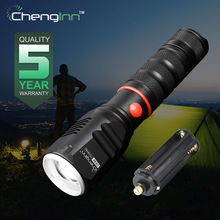 Chenglnn Waterproof 900lm Zoom Convoy Flashlight Cree Led Hand Light Lamp Torch Lantern 18650 Or 3xAAA Rechargeable Battery CE08