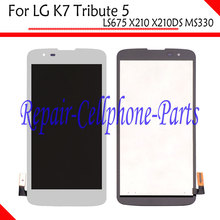 White Full LCD DIsplay + Touch Screen Digitizer Assembly  For LG K7 Tribute 5 LS675 MS330 k330 Sprint Boost Mobile