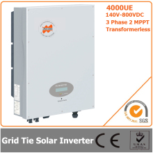 4000W 140V-800VDC Three Phase Transformerless Solar Grid Tie Inverter with CE RoHS Approvals