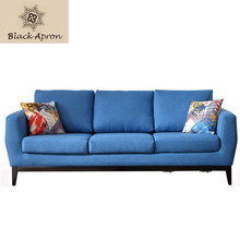 Home Furnitures 3 Seaters Sectional Sofas Divano Living Room Sofas Sets Mobilya Modern Sofas Bed Blue S31C(China)