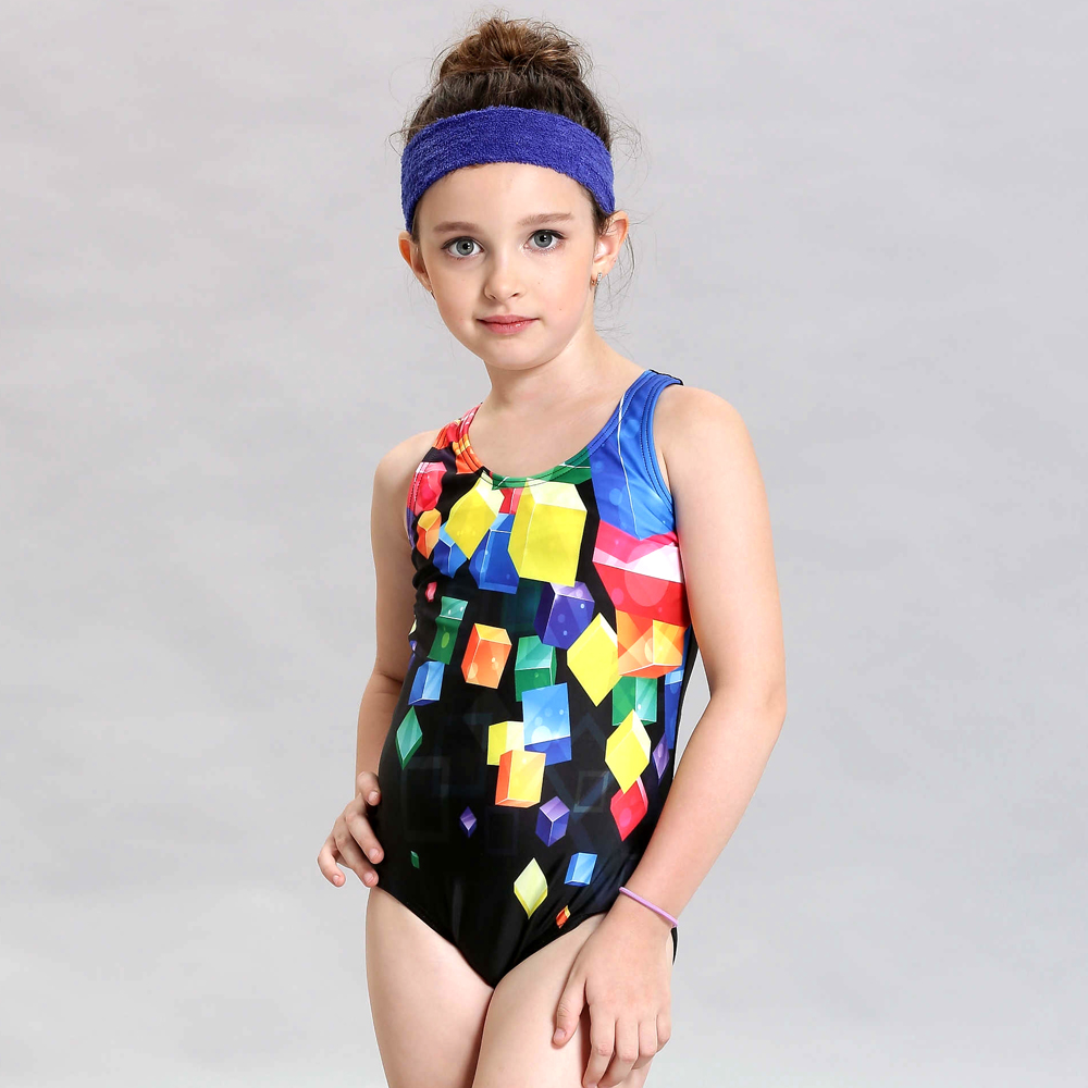 New Children Girls Swimming Suit One piece Professional Competition Kids Girls Swimwear Thong Sport Bathing suit Girl Swimsuit <br>