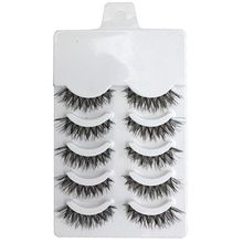 5 Pairs Beauty Makeup Mini Half Corner Black False Eyelashes Natural Eye Lashes Cosmetics(China)