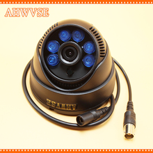 AHWVSE Free Shipping Home Security cctv Dome Camera with 3.6mm lens PAL NTSC 1000TVL Surveillance Camera(China)