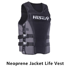 Professional Neoprene Life Vest Swimming Surfing Floating Rafting Life Vest Snorkeling PFD Inflatable Water Safety Life Vest(China)
