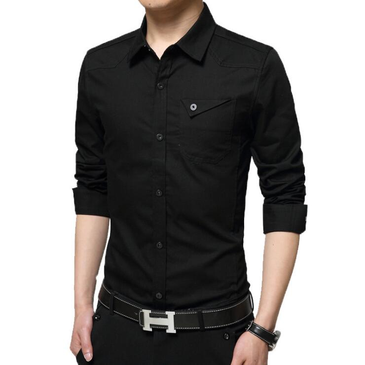 Famous Camisa Male Shirts Long Sleeve Men Shirt Fashion Casual Business Formal Shirt Chemise Homme Autumn Brand Clothing (15)