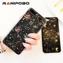 Buy Luxury Shining Glitter Space planet phone Cases iphone 6 6S Plus 7 7Plus 8 8Plus Fashion Bling Star Soft silicon back cover for $2.27 in AliExpress store