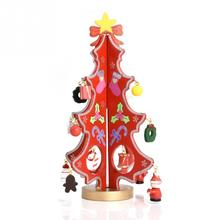Christmas 3D DIY Wooden Christmas Tree Decorations Xmas Gift Ornament Table Desk Decoration Home Party Decor(China)
