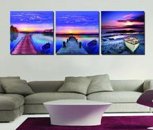 Special Offer City Impression Art 3pcs Modular Picture Dawn Scenery Twilight VIew Art The Sittingroom Modern Painting Decoration