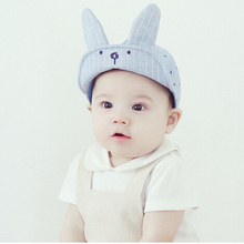 Cute little rabbit soft short brim baby sunscreen baseball hat kids peaked cap summer sun hat children travel cap(China)