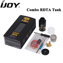 Original iJoy Combo RDTA RDA RTA Sub Ohm Tank 6.5ML Capacity Atomizer Side Filling System with IMC-2 IMC-3 Deck Vaporizer