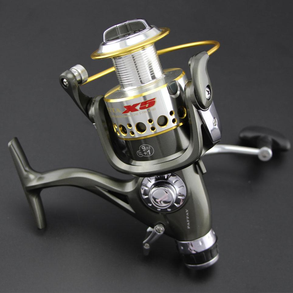 Europe Most Popular NARITA X5 Smooth Spinning Reel Fishing Reel 1 pcs 9+1 BB Carp Fishing Reel Bait Runner Fishing Reel<br>