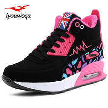 High upper Women athletic shoes 2017 Winter Women running shoes Plus cashmere warm outdoor zapatillas deporte mujer