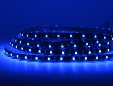 [Seven Neon]Free DHL shipping flexible DC12V 8mm black/white FPBC 3528 UV Ultraviolet Purple waterproof 60leds/m led smd strip