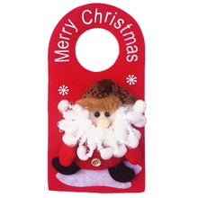 2017 New Year 23*12CM Christmas Hanging Ornaments Santa Sacks Xmas Tree Door Home Decorations - Big World Store store