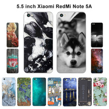 "Buy Black Shell Xiaomi Redmi Note 5A Back Cover Scenery Painted Silicone Soft 5.5"" Redmi Hongmi Note 5A Phone Case for $1.43 in AliExpress store"