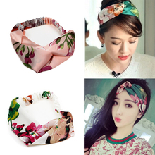 Women Flower Turban Headband Hair Accessories Girls Fashion Elastic Head Band Female Twisted Knotted Headwrap Stylish Headwear(China)