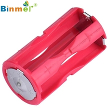 Binmer Pink Color  Parallel Cell Adapter Battery Holder DC 1.5V Case Box Convert 4 AAA to 1 C Size Oct 17