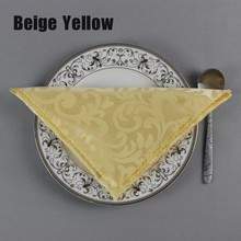 "10pcs/lot High Quality 19"" Square Polyester Table Napkin Hotel Restaurant Decorative Folding Cloth Wedding Party Handkerchief(China)"