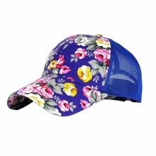 NEW Snapback Baseball Cap Floral Perforated Ball Caps Golf Hats Summer Mesh Hat for Women Teens Girls