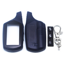 Russian Version B9 Key Shell Keychain Case For Starline B9 B6 A91 A61 LCD Remote Two Way Car Alarm System