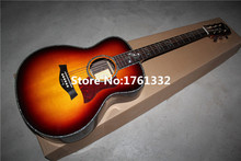 Factory custom  41-inch tobacco sunburst acoustic guitar with ebony fingerboard,can add fishman pickup EQ.Can be customized