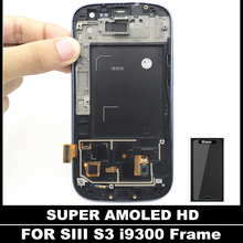 Replacement LCDs For Samsung Galaxy AMOLED SIII S3 i9300 Phone LCD Sensor Display Touch Digitizer Screen With Frame Assembly(China)