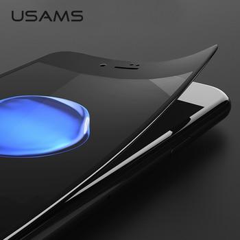 USAMS 0.3mm 9 H En Fiber De Carbone 3D En Verre Trempé pour iPhone 6 6 s Protecteur D'écran De Protection Film Premium Version