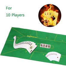 180X90cm Non-woven Fabrics Poker Table Felt Cloth Color Green  Ideal for 10 Players