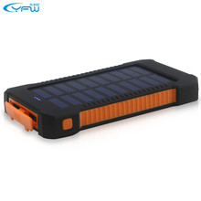 YFW Solar Bateria Externa Pover Bank Waterproof External Mobile Charger LED Flashlight Portable Charger For iPhone&Samsung&Meizu(China)