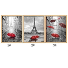 Home Craft Decor DIY Red Umbrella Diamond Painting Cross Stitch Embroidery Mosaic Needlework Photo Frame Home Decoration #H0VH#