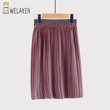 weLaken Princess Style Baby Girls Pleated Skirts Children's Bottom for Girl Outerwear Spring Summer Fashion Kids Party Skirts