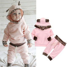 Buy 2pcs Newborn Infant Baby Boy Girl Clothes Fashion Toddler Kids Leopard Hoodies Top Pant Bebek Giyim Clothing Set Autumn Suit for $6.14 in AliExpress store