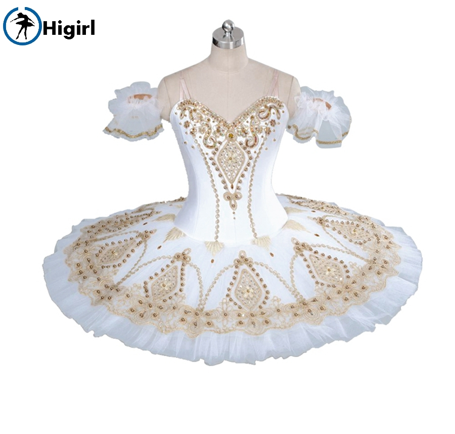 white gold nutcracker tutu girls ballet stage costumes women classical white tutu ballet costumes for adult tutu ballet BT9056